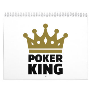 Poker king crown calendar