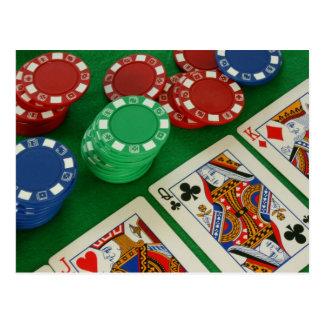 póker liso tarjetas postales