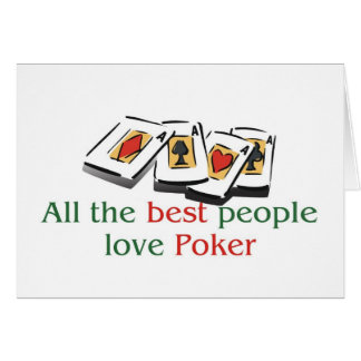Poker Lover's greetings Card