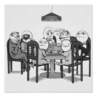 Poker Meme Dogs Poster