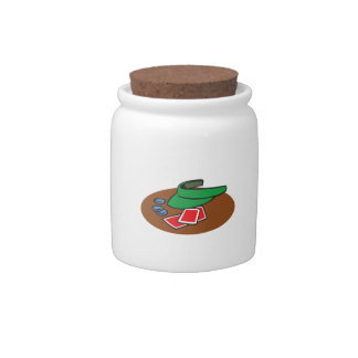 POKER MONTAGE CANDY JAR