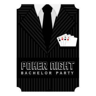 Poker Night Casino Bachelor Party Custom Invites