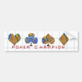 POKER Night Championship Bumper Sticker