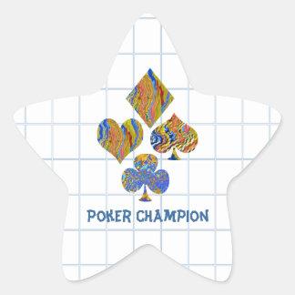 POKER Night Championship Star Sticker