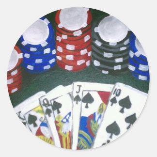 Poker Night Classic Round Sticker