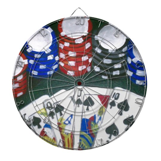 Poker Night Dartboard