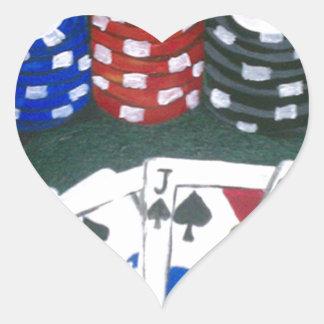 Poker Night Heart Sticker