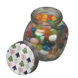 Poker Night Jelly Belly Candy Jar