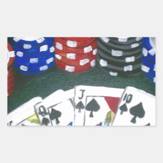 Poker Night Rectangular Sticker