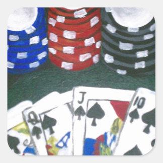 Poker Night Square Sticker