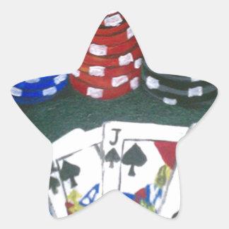Poker Night Star Sticker