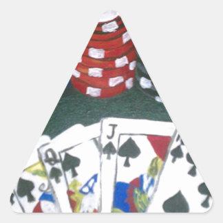 Poker Night Triangle Sticker