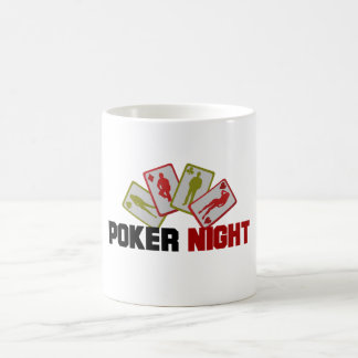 Poker Night with Playing Cards Coffee Mug