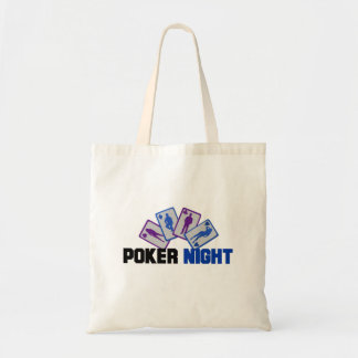Poker Night with Playing Cards Tote Bag