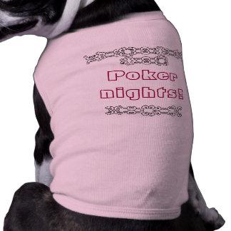 Poker nights pet tshirt