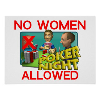 Póker ningunas mujeres poster