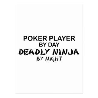 Póker Ninja mortal por noche Postales