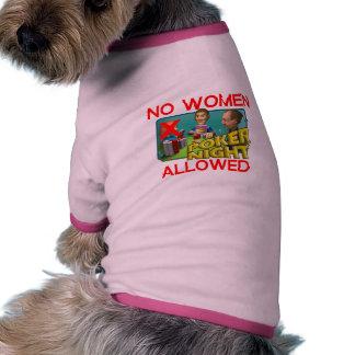 Poker No Women Dog Tshirt