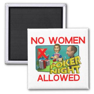 Poker No Women Magnet