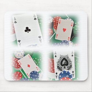POKER OF ACES MOUSE PAD