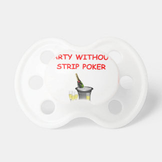 POKER BABY PACIFIERS