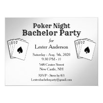 Poker Party Bachelor Party Invitation