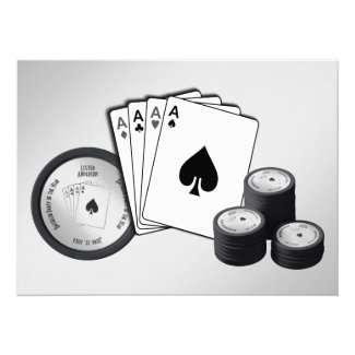 Poker Party Bachelor Party Invitation