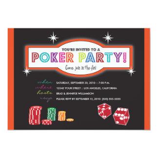 Poker Party Extravaganza Invitation (orange/black)