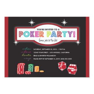 Poker Party Extravaganza Invitation (red/black)