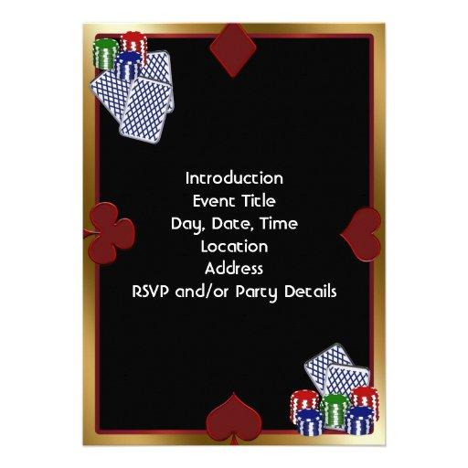 Casino Night Party Invitation Template K Fantasy Poker - Casino birthday invitation templates