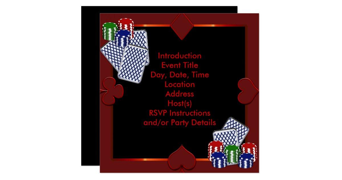 Poker party invitation template - Virtual city casino no deposit