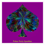 Poker Party Sparkles Poster