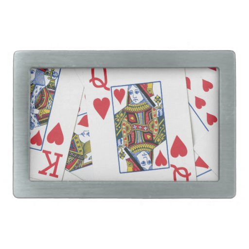 Poker Patterns Rectangular Belt Buckles
