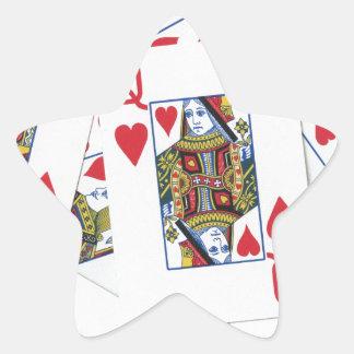 Poker Patterns Star Stickers