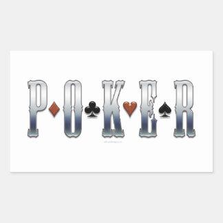Póker Pegatina Rectangular