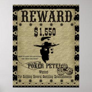 Poker Pete Reward Print