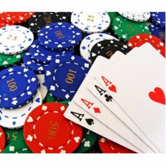 Poker Standing Photo Sculpture