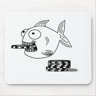 Poker Piranha fish mouse pad for dad & players
