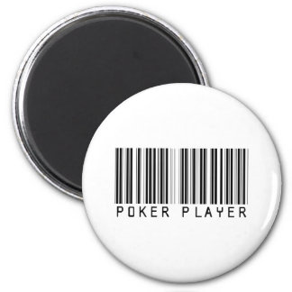 Poker Player Bar Code Magnet