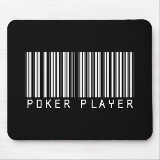 Poker Player Bar Code Mouse Pad