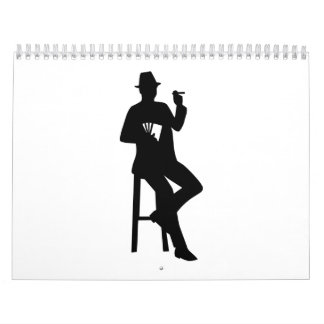 Poker player calendar