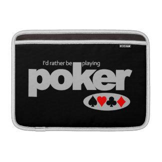 Poker Player custom iPad / laptop sleeve MacBook Air Sleeve