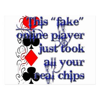Poker Player Design Post Cards