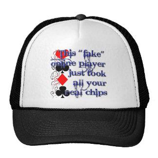 Poker Player Design Trucker Hat