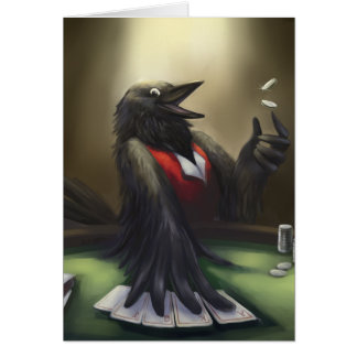 Poker player greeting cards