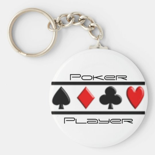 Poker Player Keychain