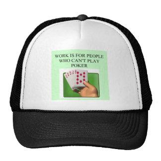 poker player lucky design trucker hat