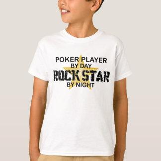 Poker Player Rock Star by Night T-Shirt