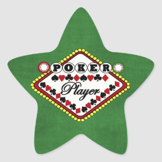 Poker Player Star Sticker