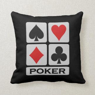 Poker Player throw pillow